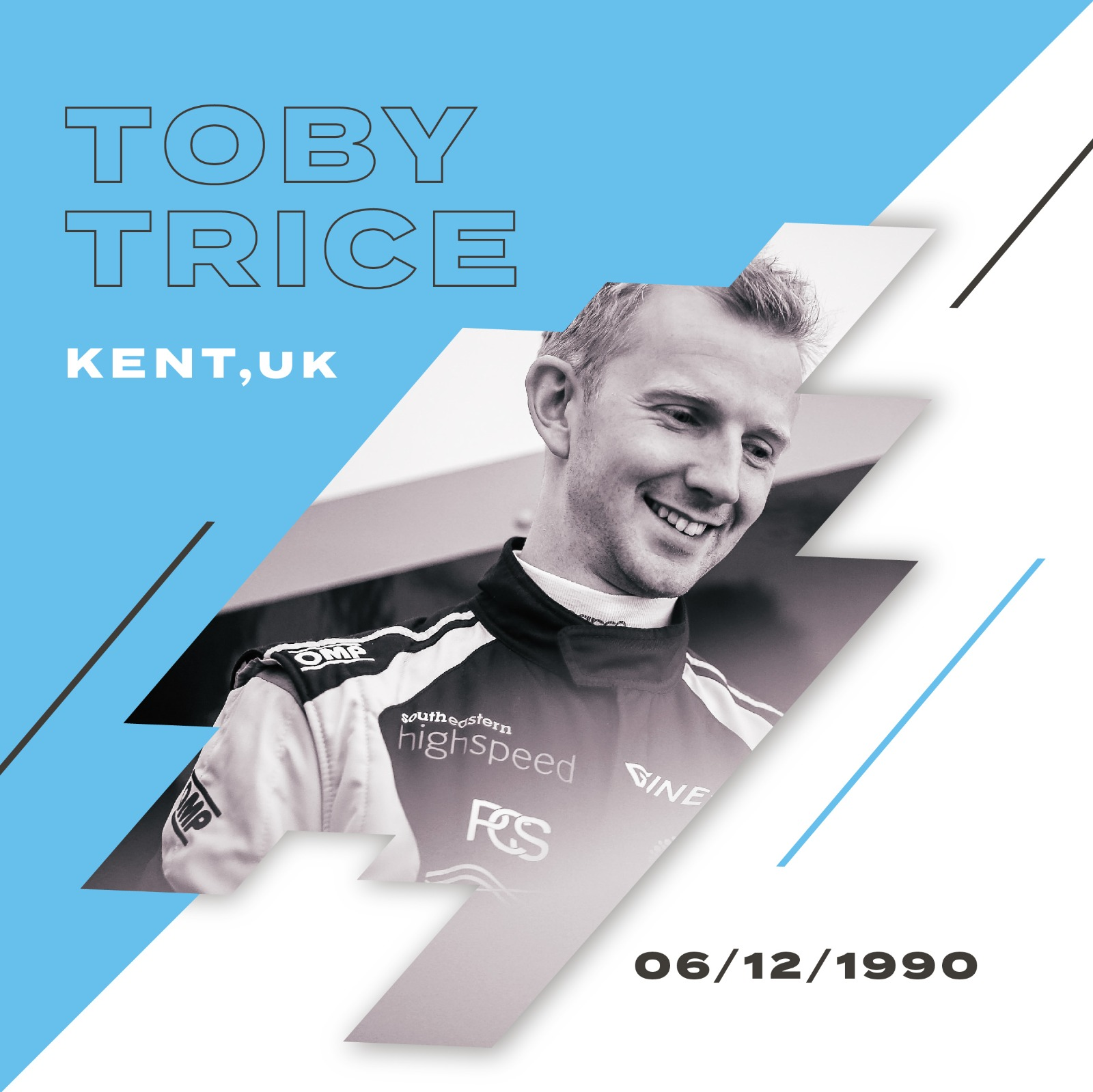 Toby Trice is a British racing driver on a campaign to raise awareness for fertility through motorsport.